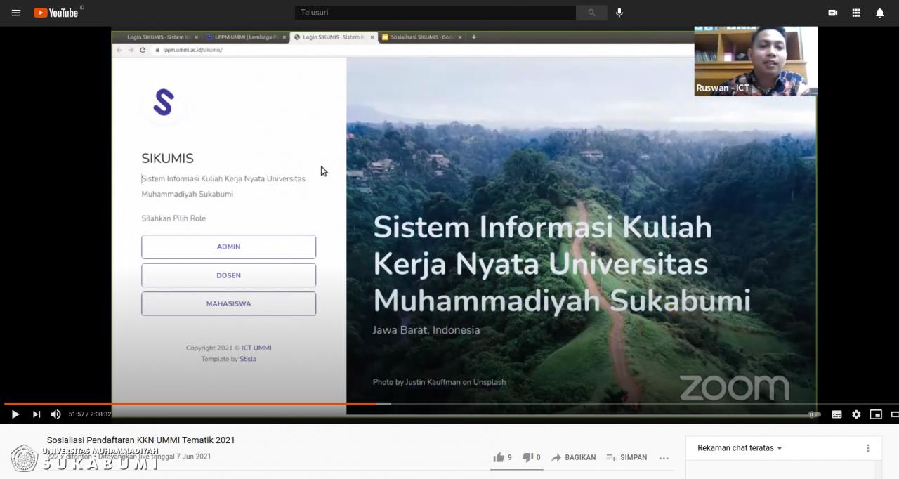 Sosialisasi  Pendaftaran Online KKN UMMI via SIKUMIS